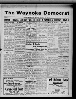Primary view of object titled 'The Waynoka Democrat (Waynoka, Okla.), Vol. 4, No. 16, Ed. 1 Thursday, May 16, 1912'.