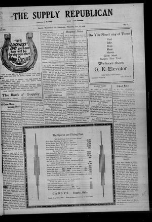 Primary view of The Supply Republican (Supply, Okla.), Vol. 19, No. 42, Ed. 1 Thursday, November 18, 1920