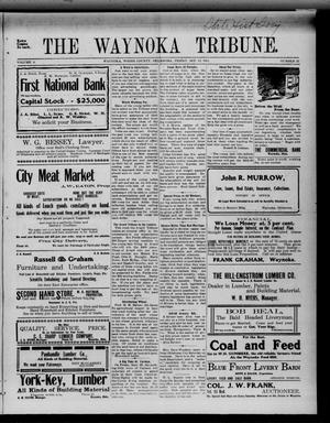 Primary view of object titled 'The Waynoka Tribune. (Waynoka, Okla.), Vol. 3, No. 32, Ed. 1 Friday, September 15, 1911'.