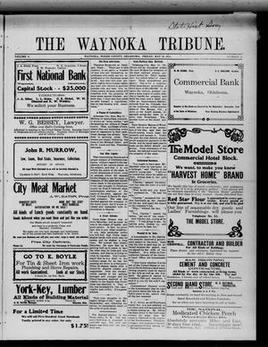 Primary view of object titled 'The Waynoka Tribune. (Waynoka, Okla.), Vol. 3, No. 15, Ed. 1 Friday, May 19, 1911'.