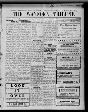 Primary view of object titled 'The Waynoka Tribune. (Waynoka, Okla.), Vol. 2, No. 22, Ed. 1 Friday, July 1, 1910'.