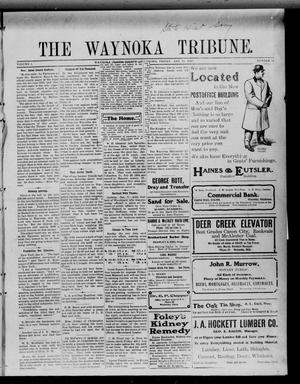 Primary view of object titled 'The Waynoka Tribune. (Waynoka, Okla.), Vol. 1, No. 50, Ed. 1 Friday, January 14, 1910'.