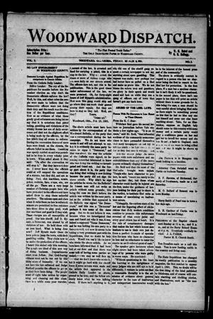 Primary view of object titled 'Woodward Dispatch. (Woodward, Okla.), Vol. 2, No. 2, Ed. 1 Friday, March 8, 1901'.