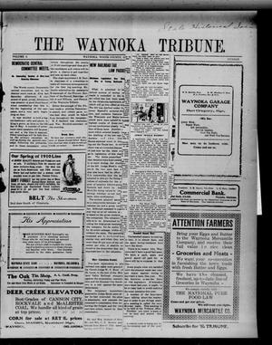 Primary view of object titled 'The Waynoka Tribune. (Waynoka, Okla.), Vol. 2, No. 7, Ed. 1 Friday, March 18, 1910'.