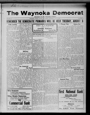 Primary view of object titled 'The Waynoka Democrat (Waynoka, Okla.), Vol. 4, No. 26, Ed. 1 Thursday, July 25, 1912'.