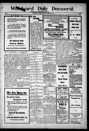 Primary view of object titled 'Woodward Daily Democrat (Woodward, Okla.), Vol. 2, No. 132, Ed. 1 Saturday, February 5, 1910'.