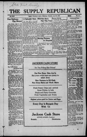 Primary view of The Supply Republican (Supply, Okla.), Vol. 24, No. 15, Ed. 1 Thursday, April 23, 1925