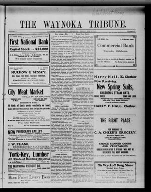 Primary view of object titled 'The Waynoka Tribune. (Waynoka, Okla.), Vol. 3, No. 7, Ed. 1 Friday, March 24, 1911'.