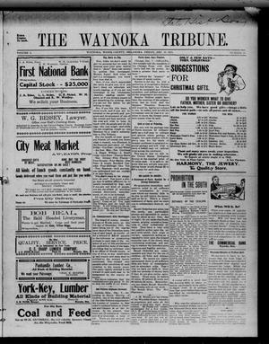Primary view of object titled 'The Waynoka Tribune. (Waynoka, Okla.), Vol. 3, No. 45, Ed. 1 Friday, December 15, 1911'.