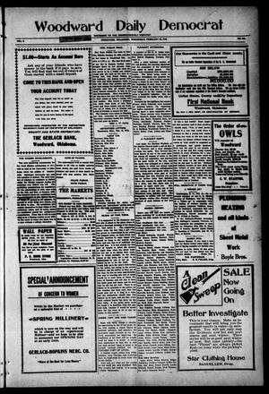 Primary view of object titled 'Woodward Daily Democrat (Woodward, Okla.), Vol. 2, No. 141, Ed. 1 Wednesday, February 16, 1910'.