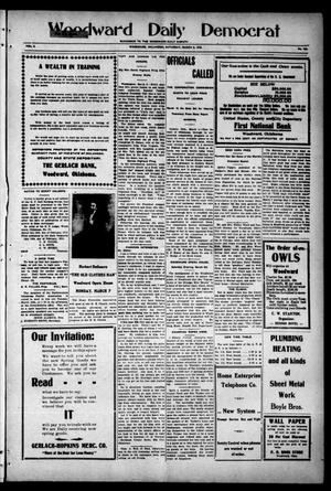 Primary view of object titled 'Woodward Daily Democrat (Woodward, Okla.), Vol. 2, No. 155, Ed. 1 Saturday, March 5, 1910'.
