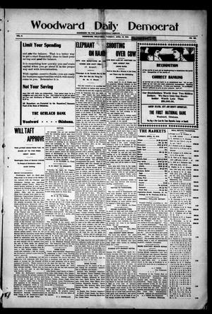 Primary view of object titled 'Woodward Daily Democrat (Woodward, Okla.), Vol. 2, No. 193, Ed. 1 Tuesday, April 19, 1910'.