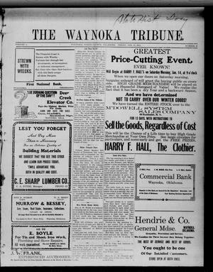 Primary view of object titled 'The Waynoka Tribune. (Waynoka, Okla.), Vol. 2, No. 46, Ed. 1 Friday, January 13, 1911'.