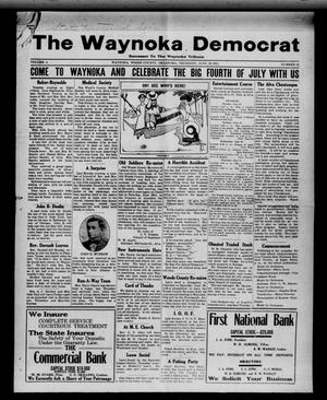 Primary view of object titled 'The Waynoka Democrat (Waynoka, Okla.), Vol. 4, No. 21, Ed. 1 Thursday, June 20, 1912'.