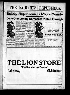 Primary view of object titled 'The Fairview Republican. (Fairview, Okla.), Vol. 7, No. 52, Ed. 1 Friday, September 20, 1907'.