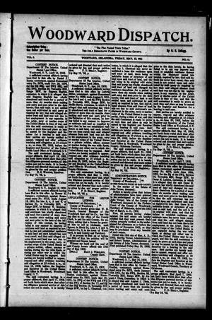 Primary view of object titled 'Woodward Dispatch. (Woodward, Okla.), Vol. 3, No. 13, Ed. 1 Friday, May 23, 1902'.