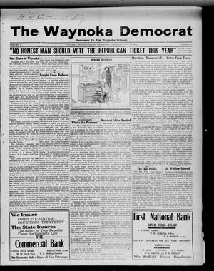 Primary view of object titled 'The Waynoka Democrat (Waynoka, Okla.), Vol. 4, No. 38, Ed. 1 Thursday, October 24, 1912'.