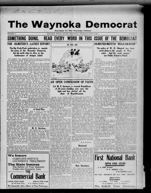 Primary view of object titled 'The Waynoka Democrat (Waynoka, Okla.), Vol. 4, No. 34, Ed. 1 Thursday, September 26, 1912'.