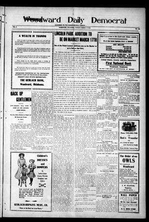 Primary view of object titled 'Woodward Daily Democrat (Woodward, Okla.), Vol. 2, No. 162, Ed. 1 Monday, March 14, 1910'.