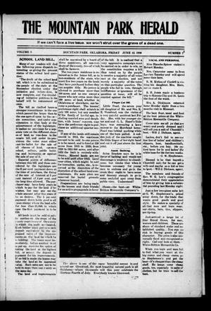 Primary view of object titled 'The Mountain Park Herald (Mountain Park, Okla.), Vol. 5, No. 23, Ed. 1 Friday, June 12, 1908'.