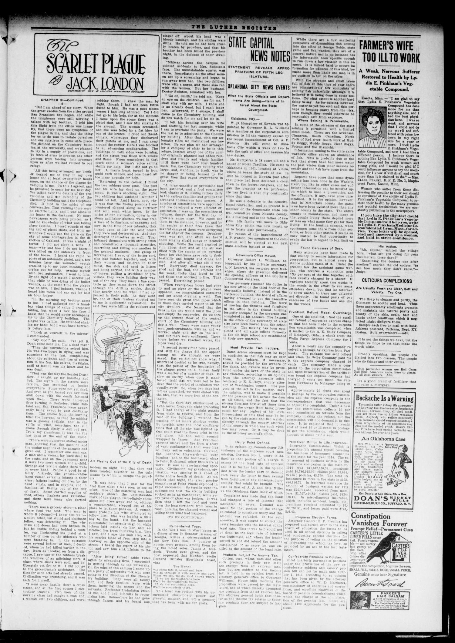 Luther Register. (Luther, Okla.), Vol. 16, No. 41, Ed. 1 Tuesday, May 4, 1915                                                                                                      [Sequence #]: 3 of 8