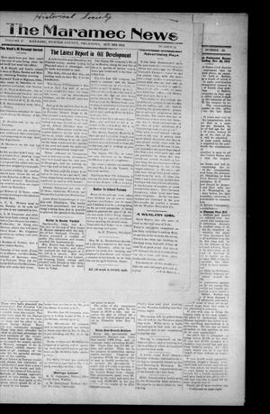 Primary view of object titled 'The Maramec News (Maramec, Okla.), Vol. 2, No. 34, Ed. 1 Thursday, October 16, 1913'.