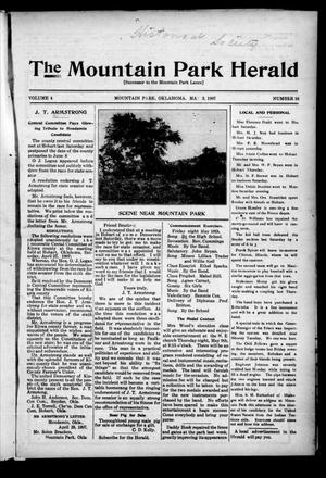 Primary view of object titled 'The Mountain Park Herald (Mountain Park, Okla.), Vol. 4, No. 16, Ed. 1 Friday, May 3, 1907'.