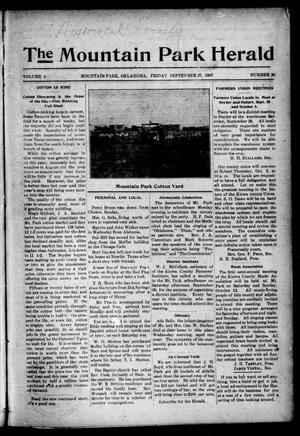 Primary view of object titled 'The Mountain Park Herald (Mountain Park, Okla.), Vol. 4, No. 38, Ed. 1 Friday, September 27, 1907'.