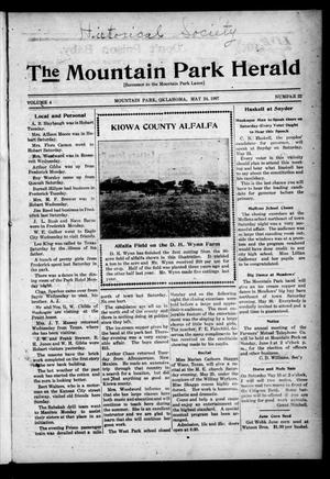 Primary view of object titled 'The Mountain Park Herald (Mountain Park, Okla.), Vol. 4, No. 22, Ed. 1 Friday, May 24, 1907'.