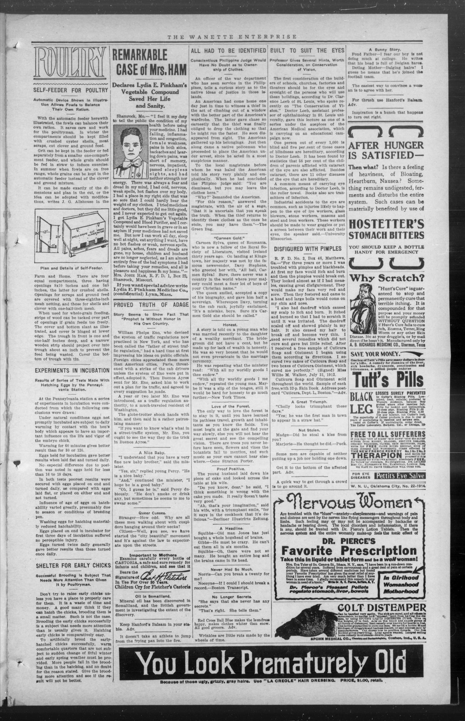 The Wanette Enterprise (Wanette, Okla.), Vol. 4, No. 4, Ed. 1 Friday, June 19, 1914                                                                                                      [Sequence #]: 3 of 8