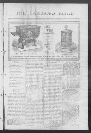 Primary view of object titled 'The Earlboro Echo. (Earlboro, Okla.), Vol. 1, No. 22, Ed. 1 Thursday, December 3, 1903'.
