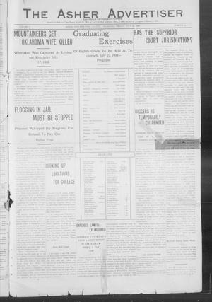 Primary view of object titled 'The Asher Advertiser (Asher, Okla.), Vol. 2, No. 21, Ed. 1 Friday, July 23, 1909'.