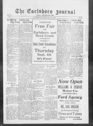 Primary view of The Earlsboro Journal (Earlsboro, Okla.), Vol. 4, No. 43, Ed. 1 Friday, August 29, 1930