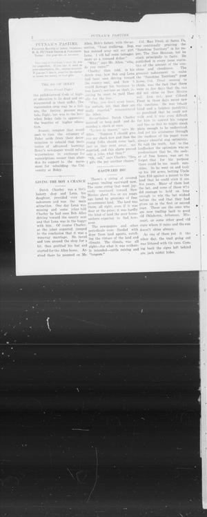 Primary view of object titled 'Putnam's Pastime (Asher, Okla.), Vol. 1, No. 1, Ed. 1 Saturday, March 1, 1913'.