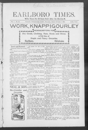 Primary view of Earlboro Times. (Earlboro, Okla.), Vol. 1, No. 31, Ed. 1 Friday, October 7, 1904