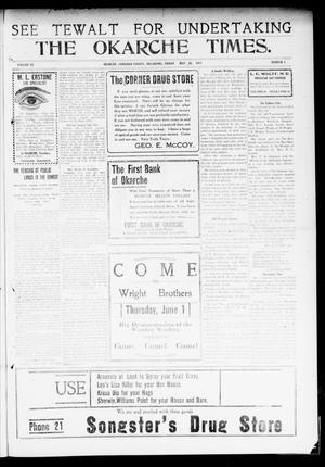 Primary view of The Okarche Times. (Okarche, Okla.), Vol. 20, No. 4, Ed. 1 Friday, May 26, 1911