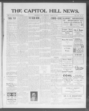 Primary view of object titled 'The Capitol Hill News. (Oklahoma City, Okla.), Vol. 8, No. 26, Ed. 1 Thursday, March 13, 1913'.