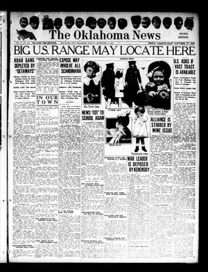 Primary view of object titled 'The Oklahoma News (Oklahoma City, Okla.), Vol. 11, No. 299, Ed. 1 Monday, September 10, 1917'.