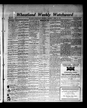 Primary view of object titled 'Wheatland Weekly Watchword (Oklahoma [Wheatland], Okla.), Vol. 6, No. 50, Ed. 1 Thursday, April 23, 1914'.