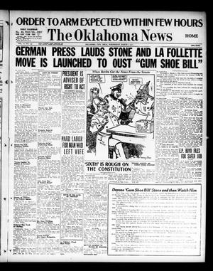 Primary view of object titled 'The Oklahoma News (Oklahoma City, Okla.), Vol. 11, No. 137, Ed. 1 Wednesday, March 7, 1917'.
