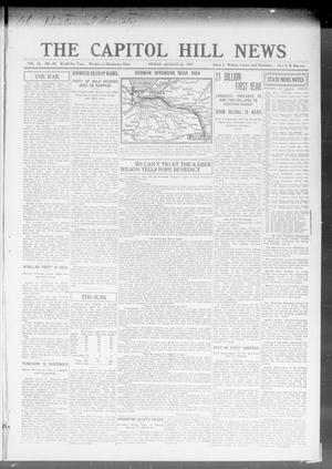 Primary view of object titled 'The Capitol Hill News (Oklahoma City, Okla.), Vol. 12, No. 49, Ed. 1 Friday, August 31, 1917'.