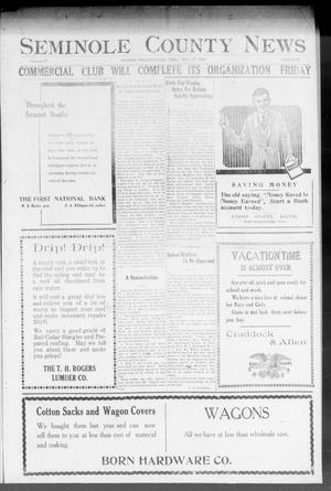 Primary view of object titled 'Seminole County News (Seminole, Okla.), Vol. 18, No. 25, Ed. 1 Thursday, September 13, 1923'.