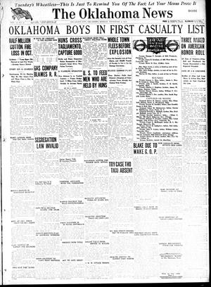 Primary view of object titled 'The Oklahoma News (Oklahoma City, Okla.), Vol. 12, No. 31, Ed. 1 Monday, November 5, 1917'.