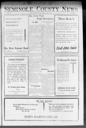 Primary view of object titled 'Seminole County News (Seminole, Okla.), Vol. 17, No. 12, Ed. 1 Thursday, June 7, 1923'.