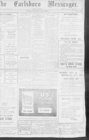Primary view of object titled 'The Earlsboro Messenger. (Earlsboro, Okla.), Vol. 1, No. 8, Ed. 1 Thursday, August 1, 1912'.