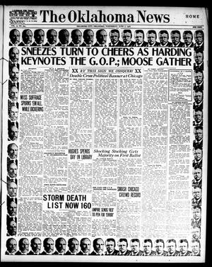 Primary view of object titled 'The Oklahoma News (Oklahoma City, Okla.), Vol. 10, No. 214, Ed. 1 Wednesday, June 7, 1916'.