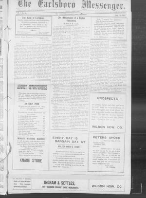 Primary view of object titled 'The Earlsboro Messenger. (Earlsboro, Okla.), Vol. 1, No. 10, Ed. 1 Thursday, August 15, 1912'.
