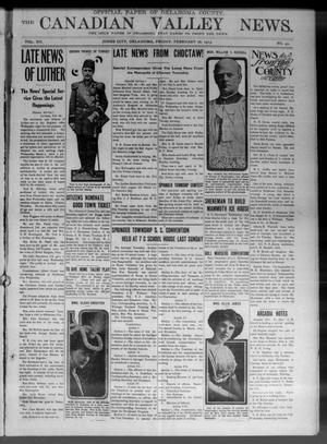 Primary view of object titled 'The Canadian Valley News. (Jones City, Okla.), Vol. 12, No. 42, Ed. 1 Friday, February 28, 1913'.