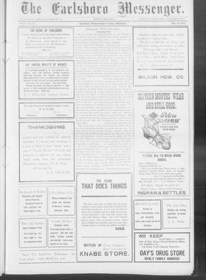 Primary view of object titled 'The Earlsboro Messenger. (Earlsboro, Okla.), Vol. 1, No. 28, Ed. 1 Thursday, November 28, 1912'.