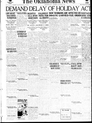 Primary view of The Oklahoma News (Oklahoma City, Okla.), Vol. 12, No. 95, Ed. 1 Thursday, January 17, 1918